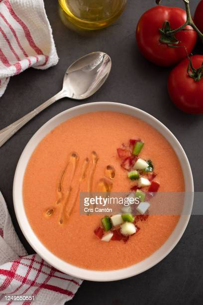 gazpacho soup - madrid stock pictures, royalty-free photos & images