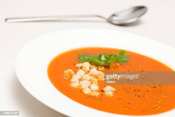 Español sopa Gazpacho frío