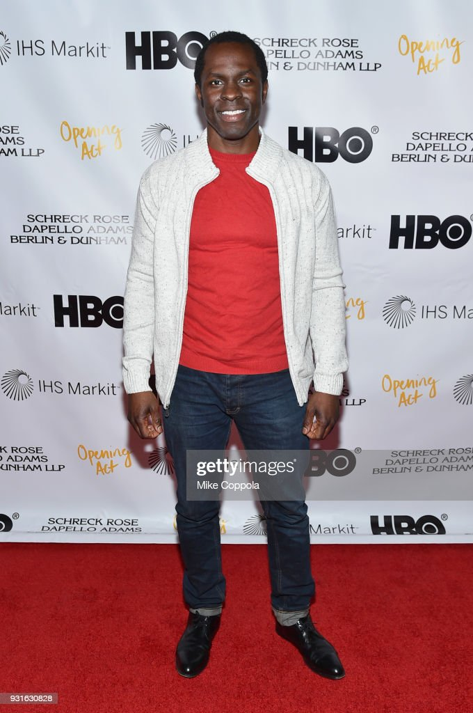 Gbenga Akinnagbe attends Opening Act's 12th Annual Benefit Play Reading 'Hear Me Here' At New World Stages on March 13, 2018 in New York City.
