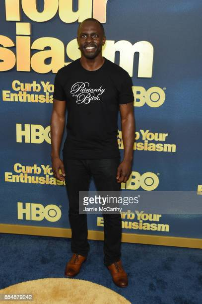 Gbenga Akinnagbe attends the Curb Your Enthusiasm season 9 premiere at SVA Theater on September 27 2017 in New York City