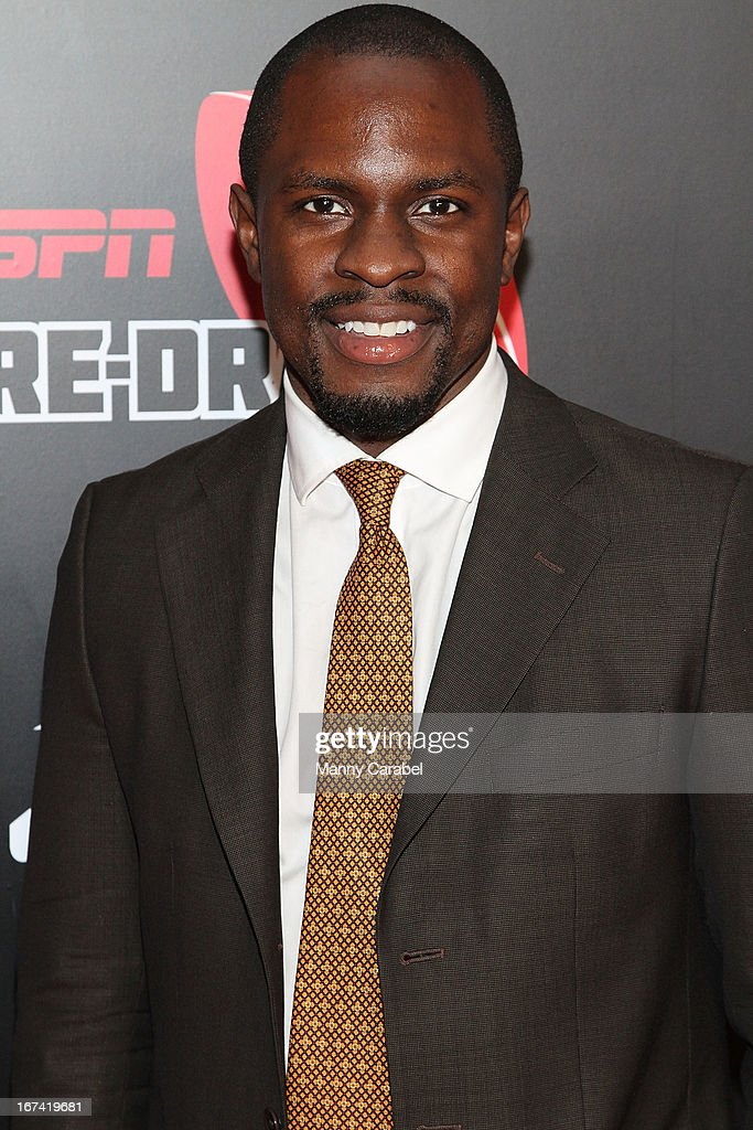 Gbenga Akinnagbe attends the ESPN The Magazine 10th annual Pre-Draft Party at The IAC Building on April 24, 2013 in New York City.