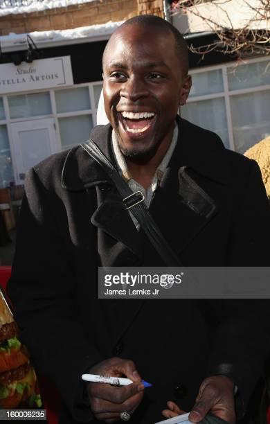 Gbenga Akinnagbe seen on Main street on January 20 2013 in Park City Utah