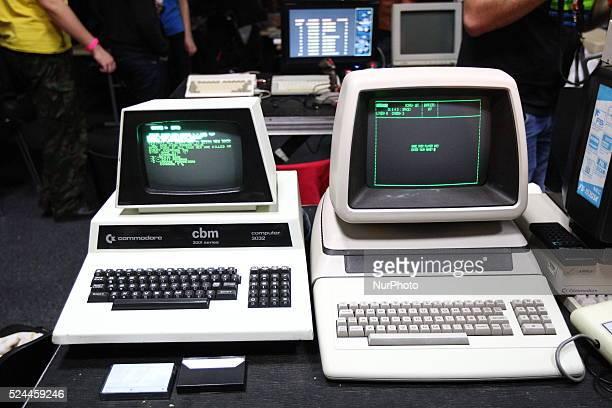 Gdans poland 17th Oct 2015 Retro computers show in Gdansk named RETROKOMP/LOAD ERROR 2015 Tens of exhibitors show their Atari ZX Spectrum Amiga...