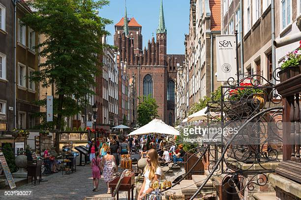 gdansk old town - gdansk stock pictures, royalty-free photos & images