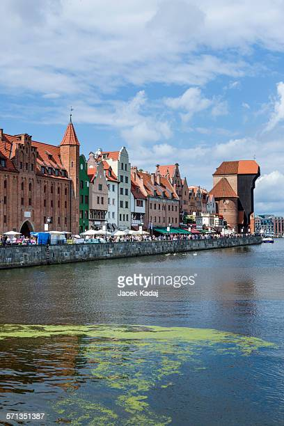 gdansk old town, poland - motlawa river stock pictures, royalty-free photos & images