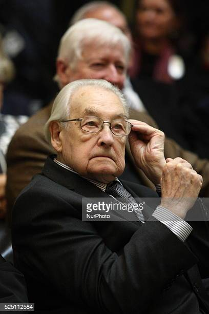 Gdansk Poland 16th Dec 2015 Director Andrzej Wajda is seen during the ceremony of 45th Anniversary Of 1970 Polish Protests on December 16 2015 in...