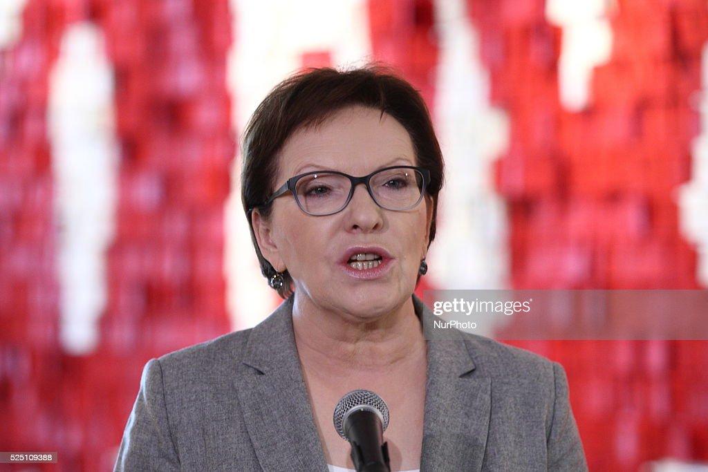 PM Ewa Kopacz attends 35th anniversary of Solidarity Movement in Gdansk, Poland : News Photo