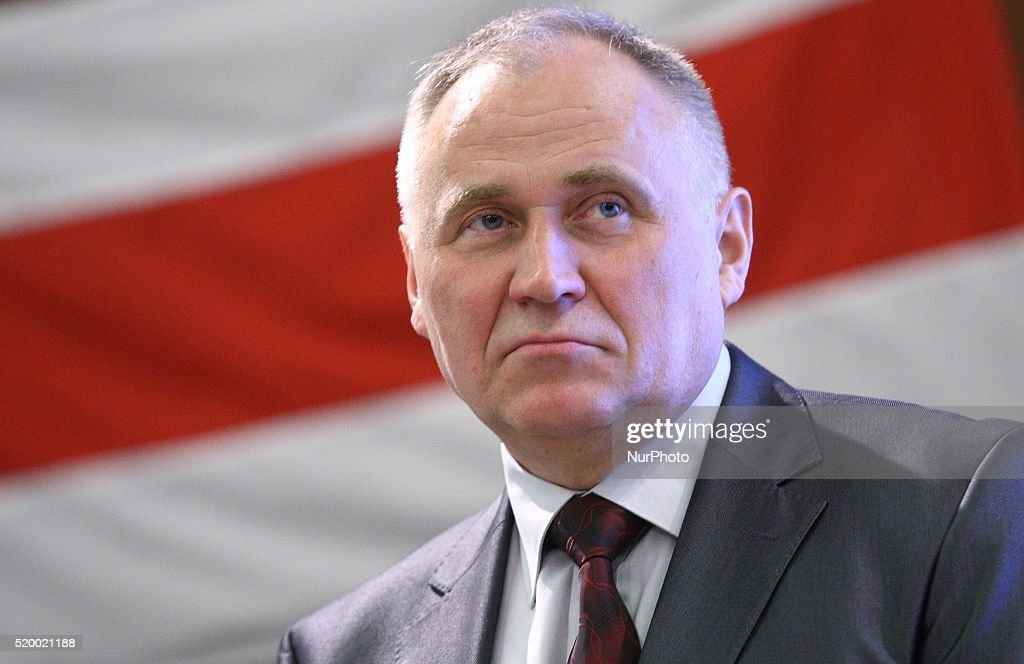 Belarus' opposition Mikola Statkevich in Gdansk : News Photo