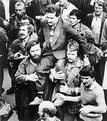 Gdansk poland polish strike leader lech walesa is carried on the of picture id515125942?s=170x170