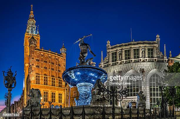 Gdansk Town Hall and Neptune Fountain