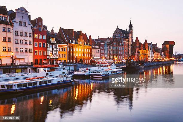 Gdansk town the shore of the river Motlawa