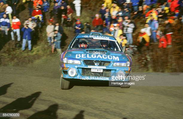 GDe Mevius in Subaru Impreza wrc1998 network q rally 2000