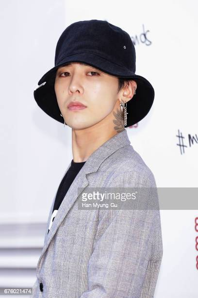 Dragon aka Kwon JiYong of South Korean boy band Bigbang attends the photocall for '8 Seconds X GDragon' Summer Collection Launch on May 2 2017 in...