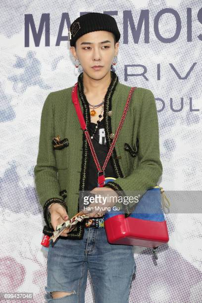 Dragon aka Kwon JiYong of South Korean boy band Bigbang attends the 'Mademoiselle Prive' exhibition at the DMuseum on June 21 2017 in Seoul South...