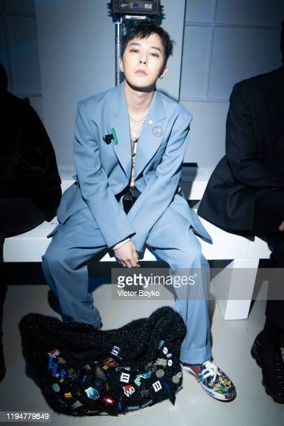 Dragon attends the WE11DONE Menswear Fall/Winter 2020-2021 show as part of Paris Fashion Week on January 19, 2020 in Paris, France.