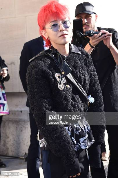 Dragon is seen arriving at Chanel show during Paris Fashion Week Womenswear Spring/Summer 2018on October 3 2017 in Paris France
