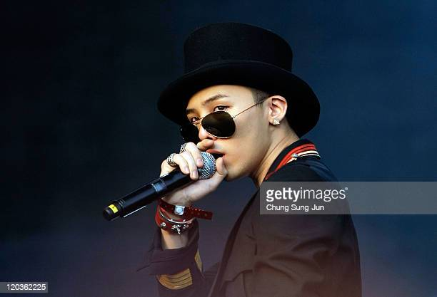 Dragon of GDTOP performs on stage during the day one of the 2011 Pentaport Rock Festival on August 5 2011 in Incheon South Korea
