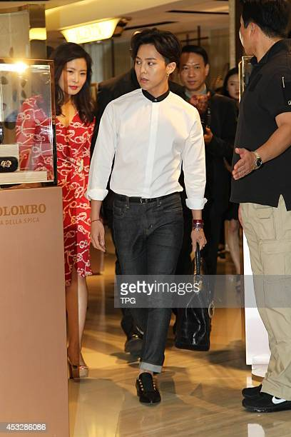 Dragon of South Korean boy band Bigbang attends Colombo Via della Spiga promotional event at Pacific Plaza on Wednesday August 62014 in Hong KongChina
