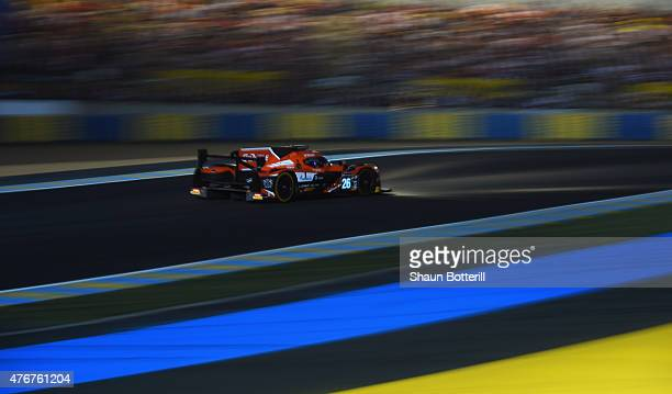 Drive Racing driven by Roman Rusinov Julien Canal and Sam Bird during qualifying for the Le Mans 24 Hour race at the Circuit de la Sarthe on June 11...