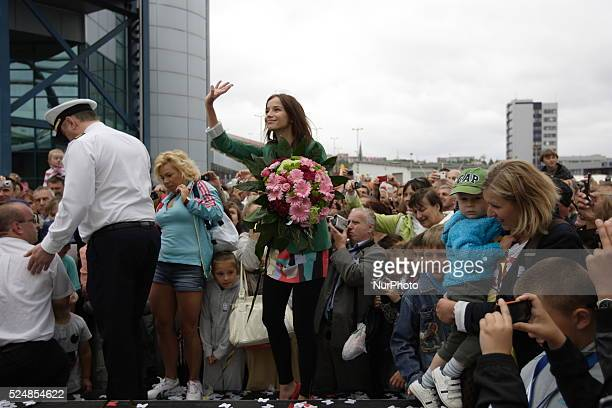 Gdynia Poland 6th October 2014 Popular polish film and television actress and mother of three children Anna Przybylska died on Sunday 5th October...