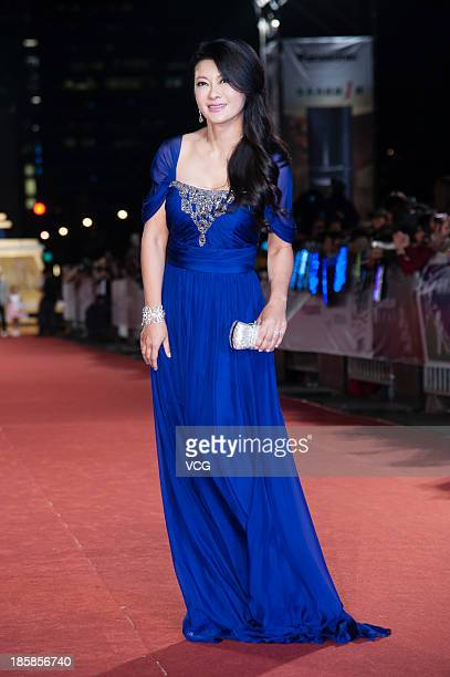 Ge Lei attends the red carpet of the 48th Golden Bell Award on October 25 2013 in Taipei Taiwan of China