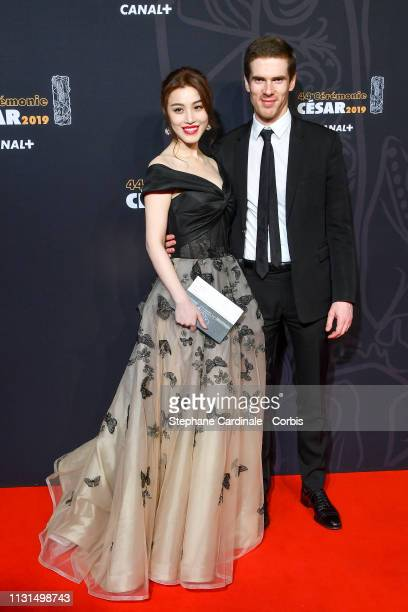 Ge Tian and Alexandre Desseigne attend the Cesar Film Awards 2019 the Cesar Film Awards 2019 at Salle Pleyel on February 22 2019 in Paris France