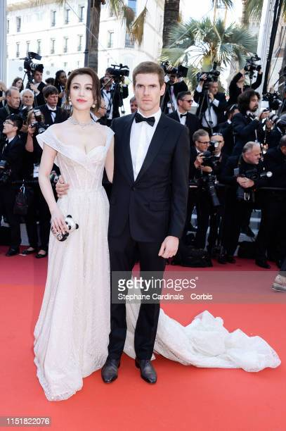 Ge Tian and Alexandre Desseigne attend the Closing Ceremony Red Carpet during the 72nd annual Cannes Film Festival on May 25 2019 in Cannes France