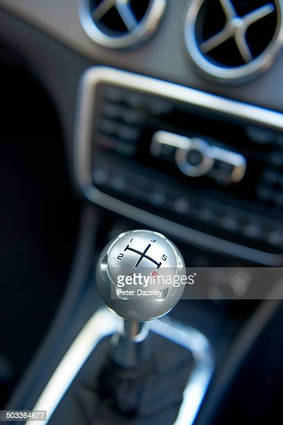 Gear stick in car