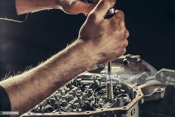 CVT-GETRIEBE Getriebe Reparatur Nahaufnahme