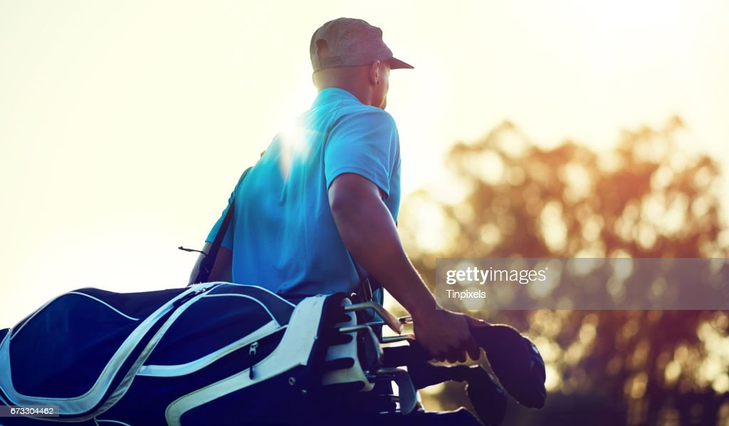 Für eine Partie Golf ausgerichtet : Stock-Foto