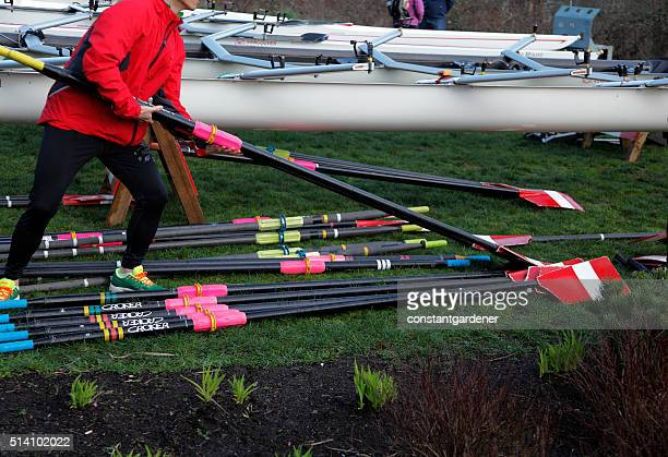 Gearing Up The Oars For The Regatta