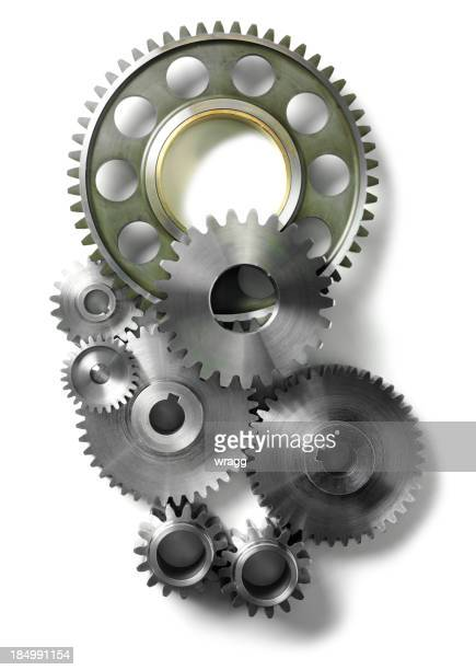 gears and cogs isolated - gear stock pictures, royalty-free photos & images