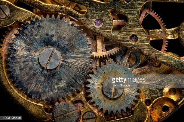 gears and rust - tom grubbe stock pictures, royalty-free photos & images