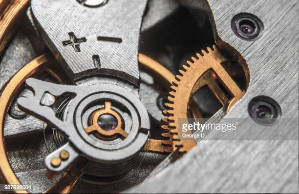 gears - instrument of time stock photos and pictures