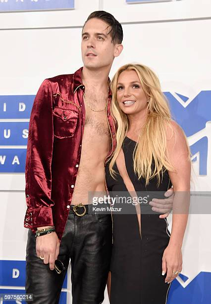 Eazy and Britney Spears attends the 2016 MTV Video Music Awards at Madison Square Garden on August 28, 2016 in New York City.