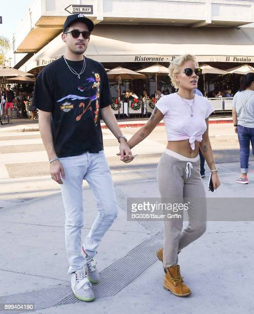 Eazy and Halsey are seen on December 28 2017 in Los Angeles California
