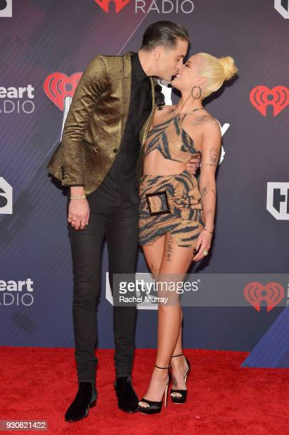 Eazy and Halsey arrive at the 2018 iHeartRadio Music Awards which broadcasted live on TBS TNT and truTV at The Forum on March 11 2018 in Inglewood...