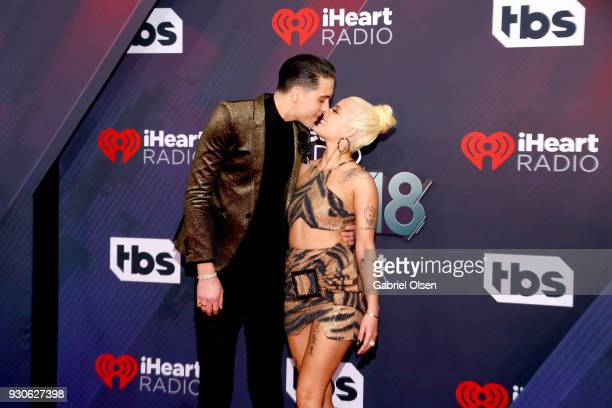 Eazy and Halsey attend the 2018 iHeartRadio Music Awards at the Forum on March 11 2018 in Inglewood California