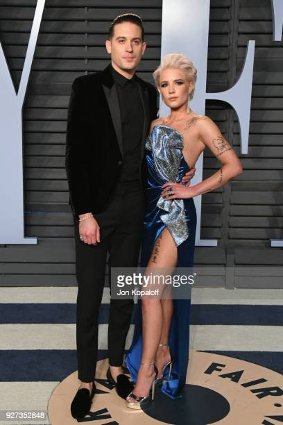 Eazy and Halsey attend the 2018 Vanity Fair Oscar Party hosted by Radhika Jones at Wallis Annenberg Center for the Performing Arts on March 4 2018 in...