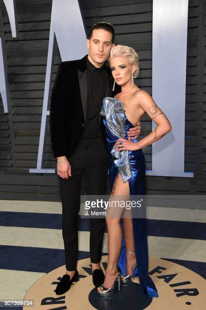 Eazy and Halsey attend the 2018 Vanity Fair Oscar Party hosted by Radhika Jones at the Wallis Annenberg Center for the Performing Arts on March 4...