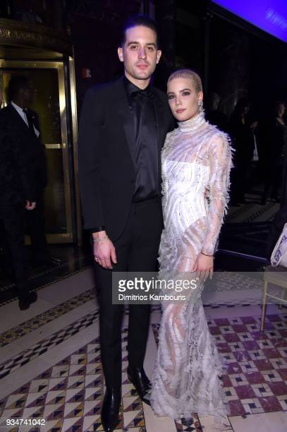 Eazy and Halsey attend the Endometriosis Foundation of America's 9th Annual Blossom Ball at Cipriani 42nd Street on March 19 2018 in New York City