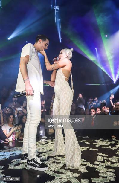 Eazy and Halsey Live Performance At E11EVEN Miami on March 24 2018 in Miami Florida