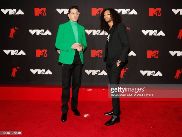 Eazy and Kossisko attend the 2021 MTV Video Music Awards at Barclays Center on September 12, 2021 in the Brooklyn borough of New York City.