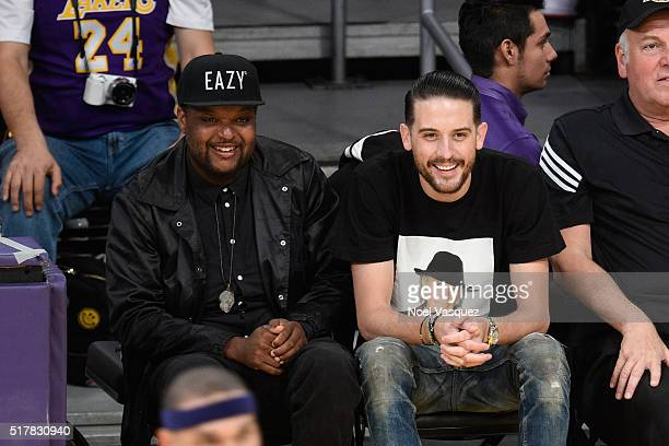 Eazy attends a basketball game between the Washington Wizards and the Los Angeles Lakers at Staples Center on March 27 2016 in Los Angeles California