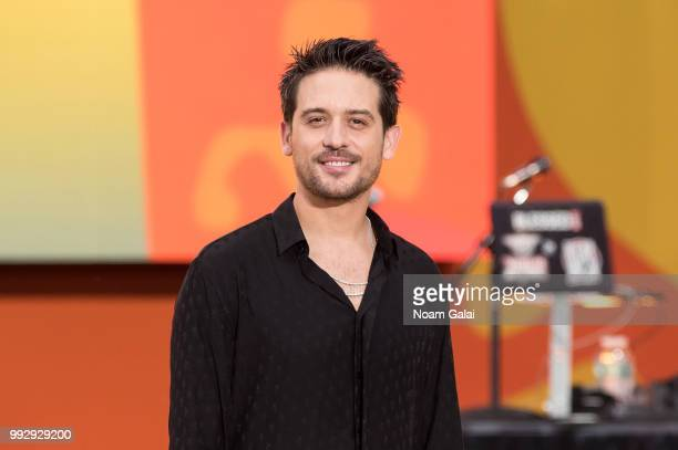 Eazy attends ABC's 'Good Morning America' at Rumsey Playfield Central Park on July 6 2018 in New York City