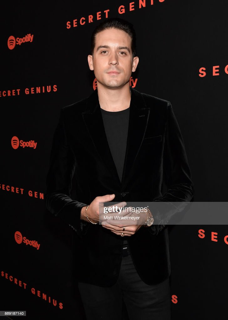 G-Eazy attends Spotify's Inaugural Secret Genius Awards hosted by Lizzo at Vibiana on November 1, 2017 in Los Angeles, California.