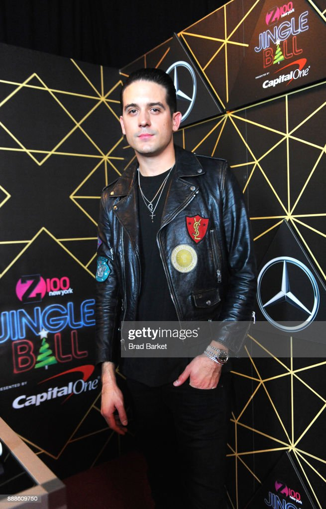 G-Eazy attends the Z100's Jingle Ball 2017 backstage on December 8, 2017 in New York City.