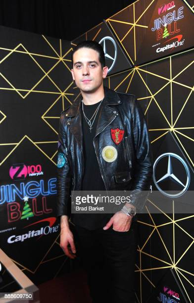Eazy attends the Z100's Jingle Ball 2017 backstage on December 8 2017 in New York City