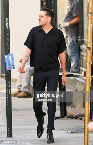 Eazy is seen walking in SoHo on October 1, 2021 in New York City.