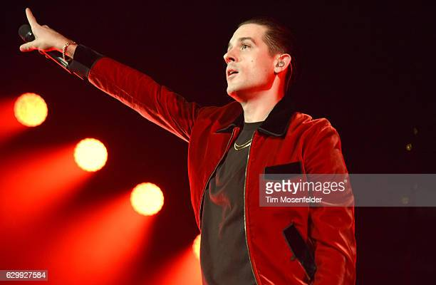 """Eazy performs during his """"G-Eazy & Friends"""" holiday concert at ORACLE Arena on December 14, 2016 in Oakland, California."""